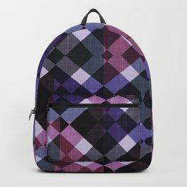 Retro Box Pattern Small Backpack