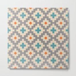 Southwestern Pattern 256 Metal Print