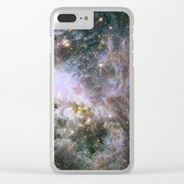 Infrared view of the Tarantula Nebula Clear iPhone Case