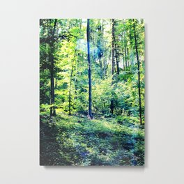 one summer day in the forest Metal Print