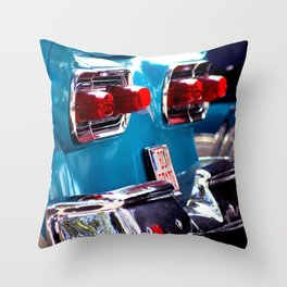 Taillights from a car Throw Pillow