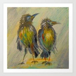 The long-awaited rain for the crows, Art Print
