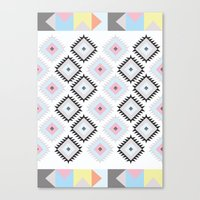 kilim Canvas Prints featuring Kilim Print by Wayward Broad Studio