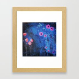 Downright Blue. From my Original Painting by Jodilynpaintings. Blue, Abstract Framed Art Print