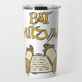 Bat Mitzvah with Scroll  Travel Mug