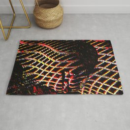 5502s-MAK Space Time Vulva Abstract Art Rendered in Acrylic by Chris Maher Rug