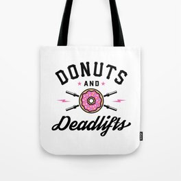 Donuts And Deadlifts v2 Tote Bag