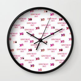 XO Coonhounds clear Wall Clock