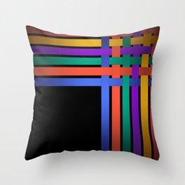 Braiding ribbons Throw Pillow