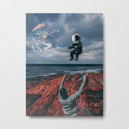 Raising Astronauts Metal Print