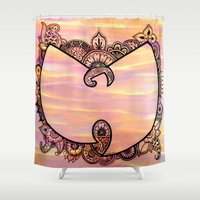 henna Shower Curtains featuring Henna Wu by kiveson