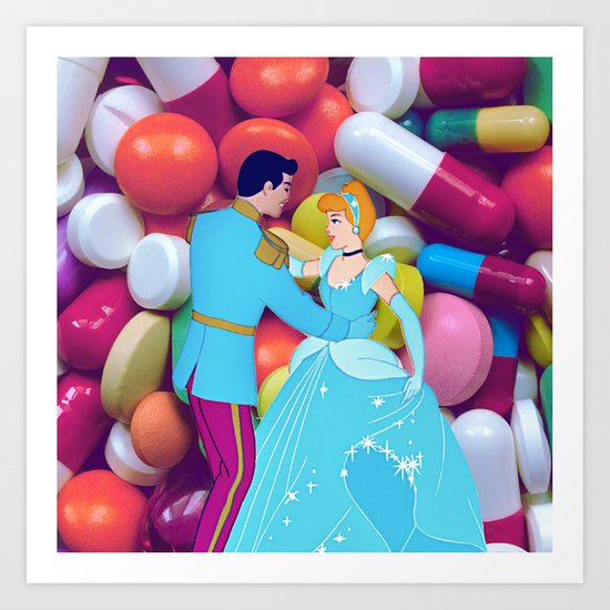 CINDERELLA IN WONDERLAND Art Print