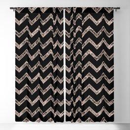 Chevron Glitter Glam #3 #shiny #decor #art #society6 Blackout Curtain