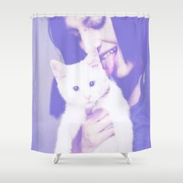 Kitty Licking Shower Curtain