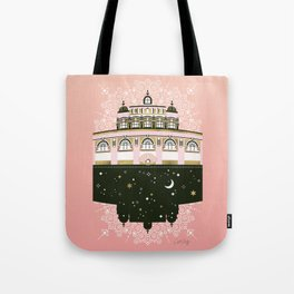 Budapest Bath House – Peach & Gold Palette Tote Bag