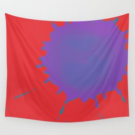 Splat on Red - by Friztin Wall Tapestry