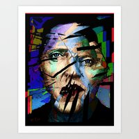 actor Art Prints featuring Christopher Walken. Cracked Actor. by brett66