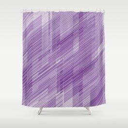 The Purple Hash - Geometric Pattern Shower Curtain