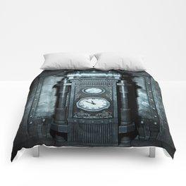 Silver Steampunk Generator Machine Comforters
