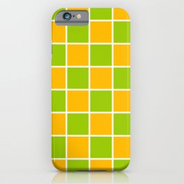 Lime Green & Golden Yellow Chex 1 iPhone Case