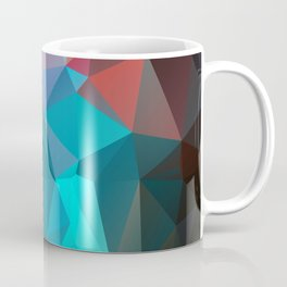 Abstract bright background of triangles polygon print illustration Coffee Mug