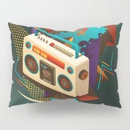 Bust Out The Jams Retro 80s Boombox Splash Pillow Sham
