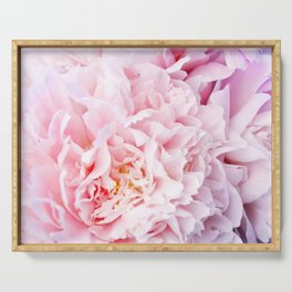 Peony Flower Photography, Pink Peony Floral Art Print Nursery Decor A happy life - Peonies 3 Serving Tray