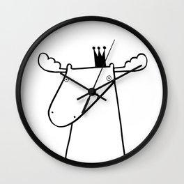 Scandinavian moose Wall Clock
