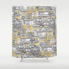 Paris toile gold Shower Curtain