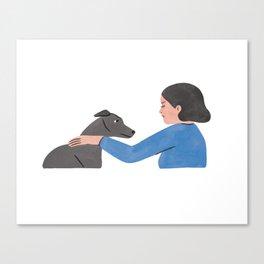 A Serious Talk Canvas Print