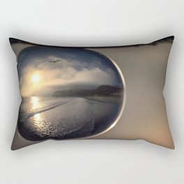 Capturing Avila Beach refraction photography crystal ball Rectangular Pillow