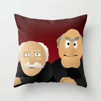 muppets Throw Pillows featuring Statler & Waldorf - Muppets Collection by Bryan Vogel