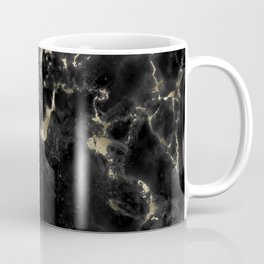 Black and Gold Marble Coffee Mug