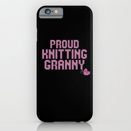 prout knitting granny iPhone Case