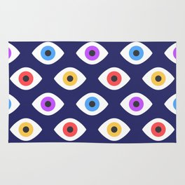 Lucky Eyes Vintage Pattern Rug