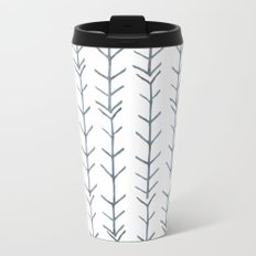 Twigs and branches freeform gray Metal Travel Mug