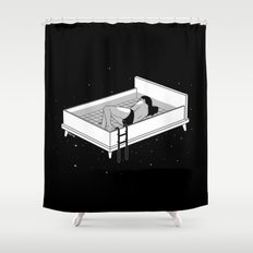 Bed for crying Shower Curtain