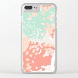 Pippa - minimal trendy gender neutral bright happy color palette nursery art Clear iPhone Case