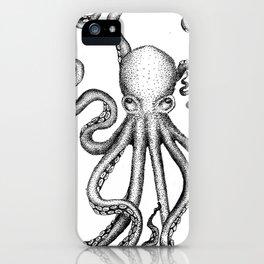 Stippled Octopus  iPhone Case