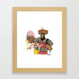 The Blumafuria Explorers Framed Art Print