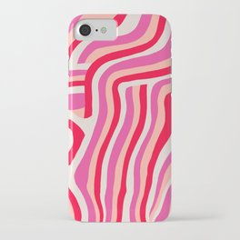 pink zebra stripes iPhone Case
