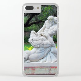 Samson And The Lion Clear iPhone Case