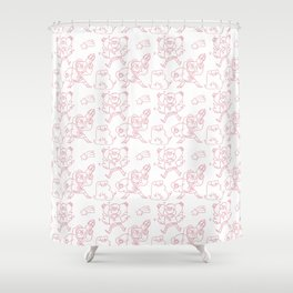 Mabel Pines Pattern Shower Curtain