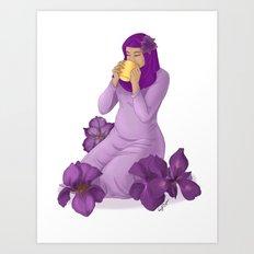 Violet Irises Art Print