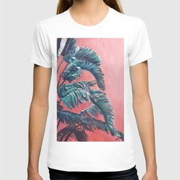 Palm Leaves_Oil on wood T-shirt