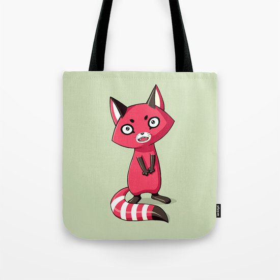 Shy Raccoon Tote Bag