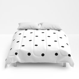 Black and white Polka Dots Pattern Comforters