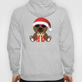 Cool Santa Bear with sunglasses and Christmas gifts pattern Hoody