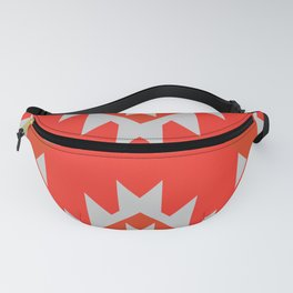Red ethnic geometry Fanny Pack