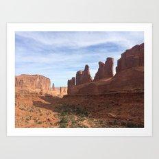 Monuments, Utah Art Print